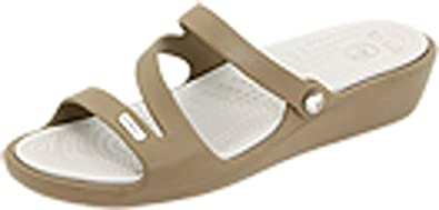 crocs Women's Patricia White Rubber Fashion Sandals