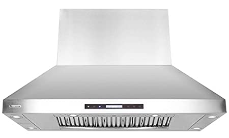 XtremeAir PX07-I48 1600 CFM Easy Clean Baffle Filters, Stainless Steel, Island Mount Range Hood, 48' 48