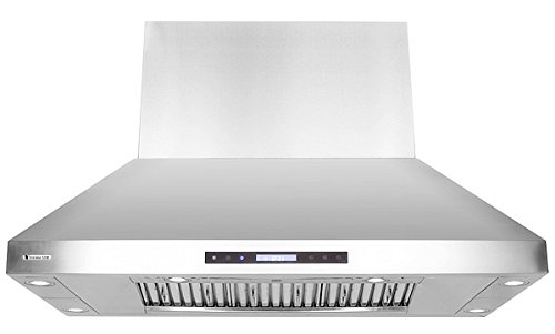 XtremeAir Wide, Stainless Steel, PX07-I48 Island Mount Range Hood with 1600 CFM Easy Clean Swing-able Baffle Filters, 48