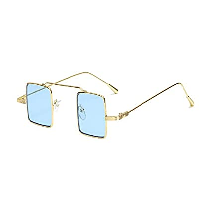 Burenqi Celebrity Fashion Square Sonnenbrille Frauen Männer Klein Legierung Brillenmarke Designer bunte Linse UV400, G