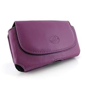 Purple Color Horizontal Imitation Leather Cover Belt Clip Side Case Pouch For Alltel Motorola DROID 3 XT862 Milestone 3