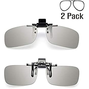 862c05e4e4 Tacloft Unisex Adult Polarized 3D Clip-on Glasses 2 Pack (RealD   IMAX)