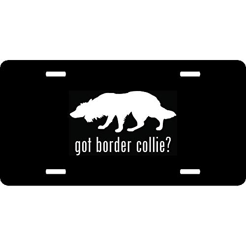 Got Border Collie - Got Border Collie Herding Dog Pet Customized Front License Plate Cover, Vanity Humor Funny Front Car Tag Sign 4 Holes Aluminum Metal 6