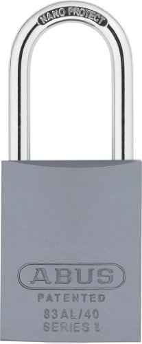 [ABUS 83AL/40-300 S2 Schlage Rekeyable Padlock Aluminum Body with 1.5-Inch Shackle, Silver Zero-Bitted] (40 Padlock)