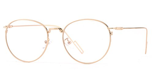 GAMT Vintage Metal Round Eyeglasses Clear Lens Glasses for Men and Women - Most For Men Popular Eyeglass Frames