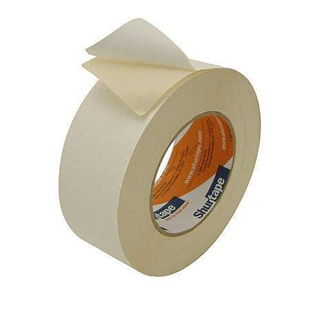 1 in. X 36YDS - Double Sided Masking Tape, Natural - 24 Rolls/Case (1 Case) by Shurtape (Image #1)