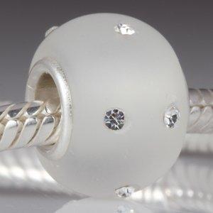 """Andante-Stones perle de verre Murano Bead Argent 925 Sterling original et massif KERASTYLE """"gel"""" Élément bille pour perles European Beads + Étui en organza"""
