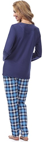 Italian Fashion IF Pijamas para mujer M007 Azul Oscuro(Emilia)