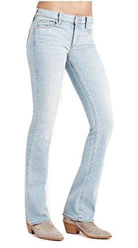 True Religion Women's Becca Mid Rise Bootcut Jeans In Paperback Blue (Womens True Boot Jean)