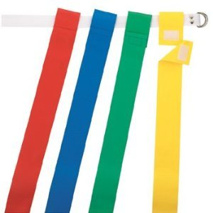 Martin Flag Belt - Martin Sports Flat Football Belt & Flags - Red (1 Set)