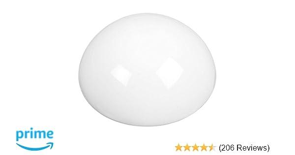 National Hardware  Plastic  Soft Round Door Stop  White