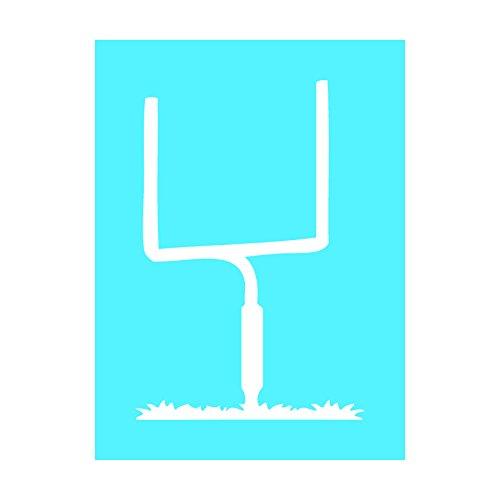 Auto Vynamics - STENCIL-FOOTBALL-GOALPOST - Detailed Football Goalpost Individual Stencil from Football Silhouettes Stencil Set! - 7.5-by-10-inch Sheet - Single Design