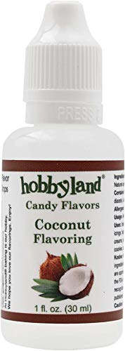- Hobbyland Candy Flavors (Coconut Flavoring, 1 Fl Oz), Coconut Concentrated Flavor Drops