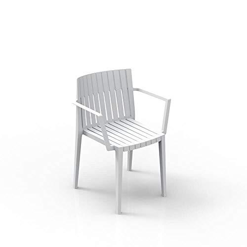 Amazon.com : Set 2 Vondom Spritz Armchair for Outdoor White ...
