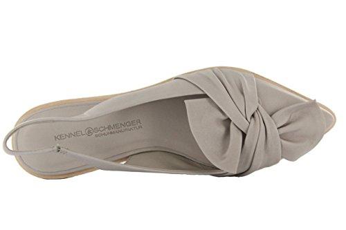 Kennel und Schmenger Damen Ballerina sling Ono spitz grau Leder