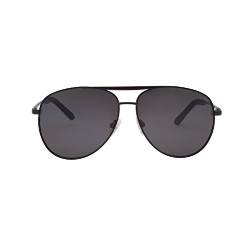 Tacloft Aviator Sunglasses Polarized for Women Men Polarized UV 400 Sunglasses TL7001(Matte Black Frame/Grey ()