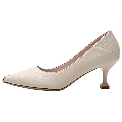Chaussures Talons Forme De Au Filles 36 Paire Printemps Beige39 Hauts En Une À Femme Avec Zzdsh Sexy Ressort Pour Tête Sauvage kOPXZiu
