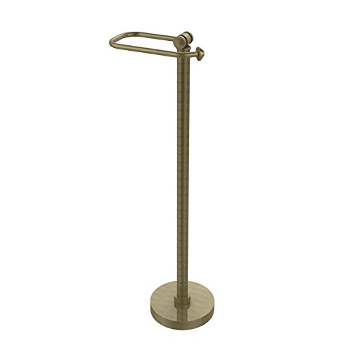 Allied Brass SB-74-ABR Southbeach Collection Free Standing Toilet Tissue Holder, 26-Inch High, Antique Brass