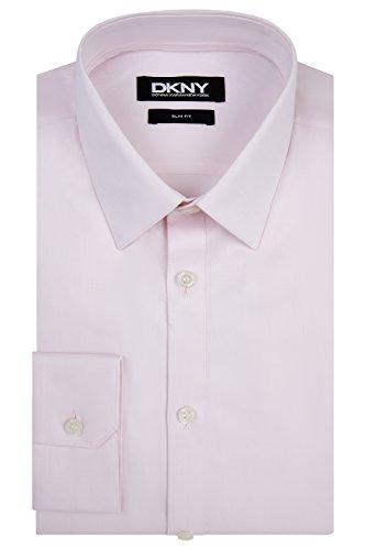 DKNY Slim Fit Rosa Knopfmanschette Spitzen Kragen Hemd 17