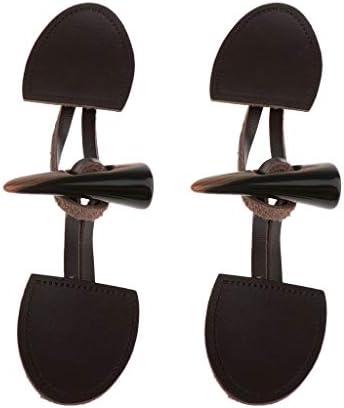 2個セット ジャケットボタン 縫製用ボタン ホーン レザー トグルコート ダッフルボタン DIY - 褐色