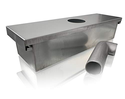 Restaurant Grease - Grease Box for Restaurant Canopy Hood Exhaust Fan (Includes Down Spout)