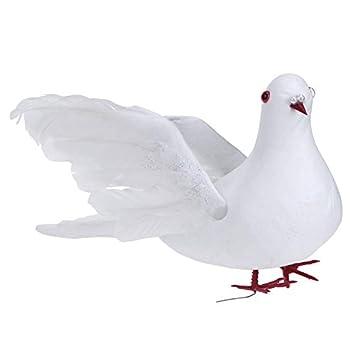5 Stücke Gefälschte Künstliche Federschaum Tauben Vögel Hochzeit