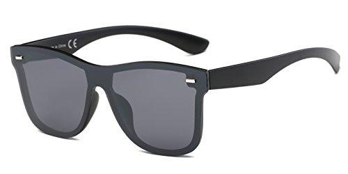 Cramilo Reflective Mirrored Lens Rimless Squared - Raybands Glasses