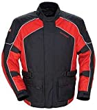 TourMaster Saber 4.0 Men's 3/4 Outer Shell Textile Motorcycle Jacket (Red/Black, Large)