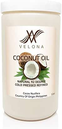 Coconut Oil 92 Degree 2oz-7lb Organic Carrier Refined Cold Pressed 100% Pure | in jar | Size: 64 oz