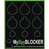 MySpyBlocker Webcam Cover / Camera Lens Covers for Online Privacy! Removable & Reusable. Bulk Pack (6 Sheets x 9 stickers - 54 UNIVERSAL Black Webcam Covers.)