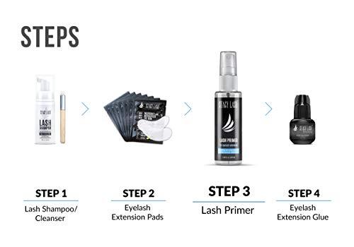 Eyelash Extension Primer/Cleanser (1.35fl.oz/40ml) Stacy Lash/Protein Oil Remover/Increase Adhesive Bonding Power…