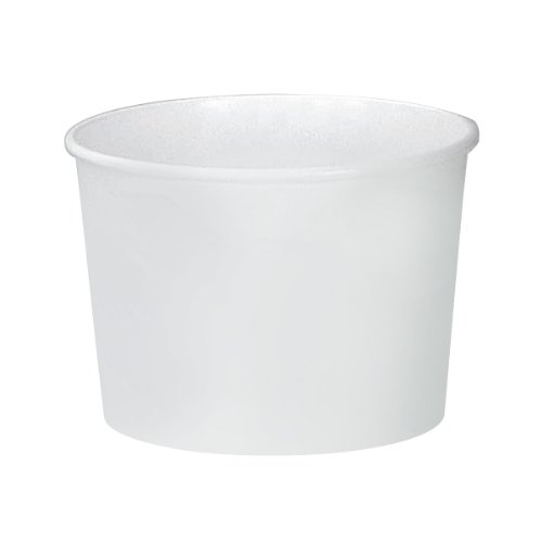 SOLO VS516-02050 VS Single-Sided Poly Paper Food Container, 16 oz. Capacity, White (Case of 500))