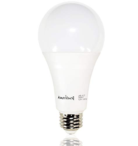 - AmeriLuck 50/100/150W Equivalent 3-Way LED Light Bulb A21 5000K Daylight Omni-Directional UL Listed (1 Bulb)