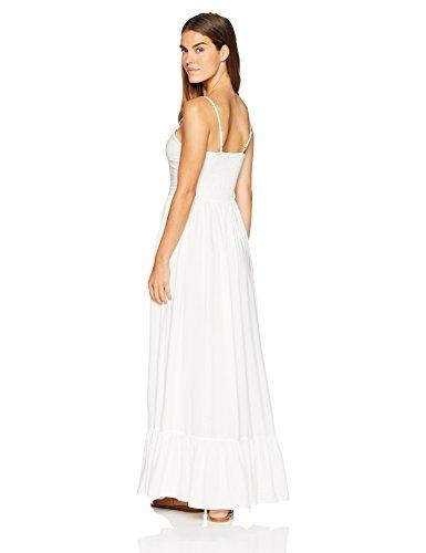 Strap Beachwear Women's Dress Out Oasis Wild Solid Neck V White Spaghetti Cut Maxi pq6Ua