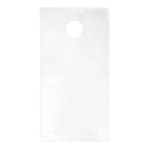 ClearBags 6 x 12 Door Hanger Bags for Door Knob Flyers Promotions Coupons | Clear Plastic Poly Hanging Bags for Mail Newspaper Bags with Hangers Protect Against Rain, Dirt, Bugs | DK1 Pack of 1000