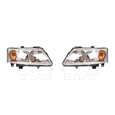 - CarLights360: Fits 2003 2004 2005 2006 2007 Saab 9-3 Headlight Assembly Driver and Passenger Side w/Bulbs Halogen Type - Replaces SB2502109 SB2503109 (Vehicle Trim: 2 Dr; 4 Dr.)
