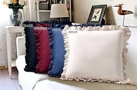 Bedding Empire Ultra Soft Solid Edge Ruffle Pillow Shams Pair 100% Egyptian Cotton 600 Thread Count (2 piece set) Euro White (Ruffled Sham European)