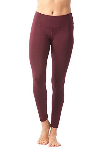 90 Degree by Reflex Women's Power Flex Yoga Pants – Burgogne – Small