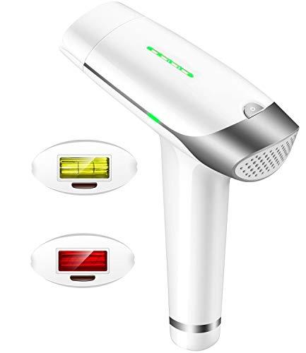 Auratrio T-009 IPL Haarentferner>500.000 Flashes, Dauerhafte Haarentfernung, 5 Stufen, Damen und Männer, Gesicht, Körper, Intimbereich, mit Lichtschutzbrille, Slide & Flash, Speicherfunktion