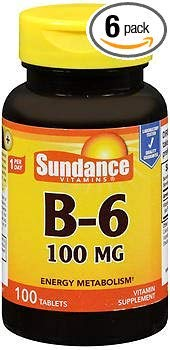Sundance B-6 100 mg - 100 Tablets, Pack of 6