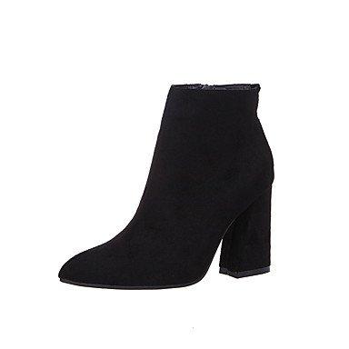 Wsx & Plm Femmes-bottines-formelles-confortable-carré-daim-noir / Marron, Marron Clair, Us8 / Eu39 / Uk6 / Cn39