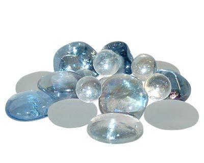 (Panacea Decorative Glass Gems, Sky Blue Lustre, 10.5 lbs.)