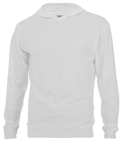 white and light blue hoodie men - 8