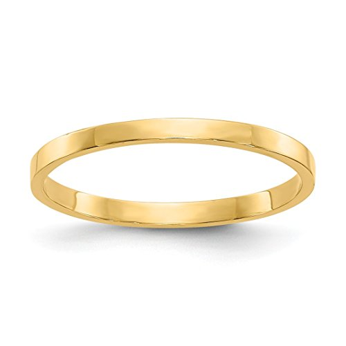ICE CARATS 14kt Yellow Gold Wedding Ring Band Childs Size 3.00 Baby Fine Jewelry Ideal Gifts For Women Gift Set From Heart