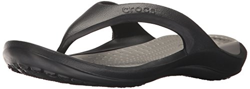 (crocs Athens Flip Flop, Black/Smoke, 10 US Men / 12 US Women)