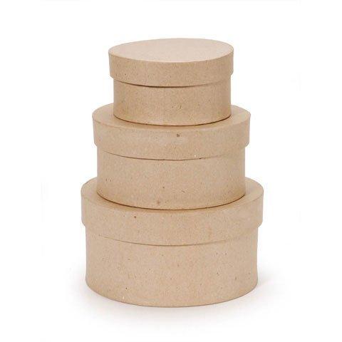 Darice Bulk Buy DIY Value Pack Paper Mache Box Set Round 4, 5, 6 inch (3-Pack) 2849-04 by Darice