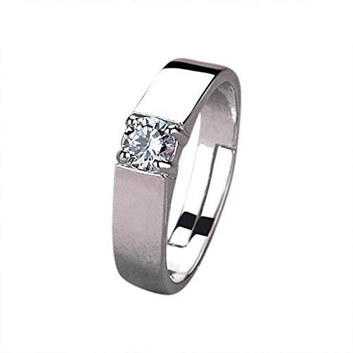 - WoCoo Eternal-Love, Lovers Crystal Ring for Women/Men(Silver)