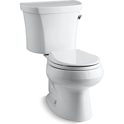 Lever Rough (Kohler K-3947-RA-0 Wellworth Round-Front 1.28 gpf Toilet, 14-inch Rough-In, Right-Hand Trip Lever, White)