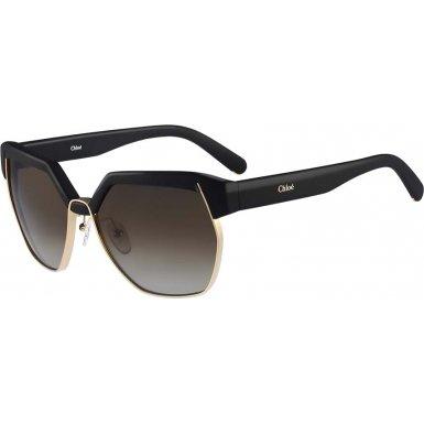 Chloe Women's Dafne Matte Black - Chloe Black Sunglasses