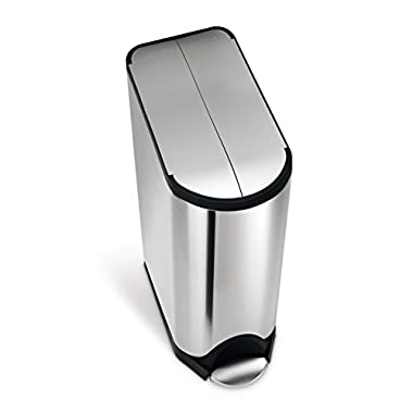 simplehuman Butterfly Step Trash Can, Stainless Steel, 45 L / 11.9 Gal
